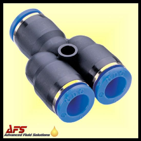 Equal Y Push in Fittings Metric Nylon Tube Connectors